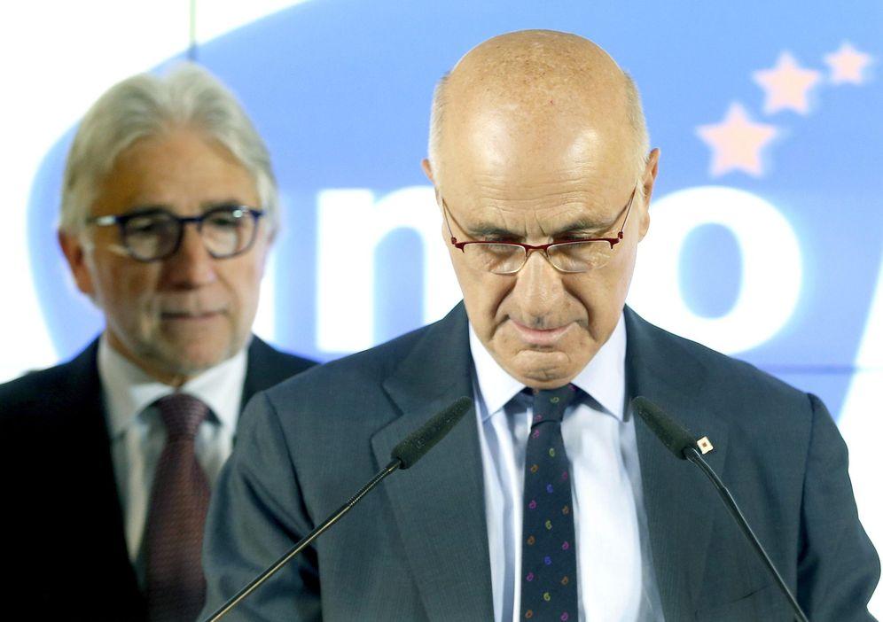 Foto: Josep Sánchez Llibre y Josep Antoni Duran i Lleida, en un acto de Unió. (EFE)