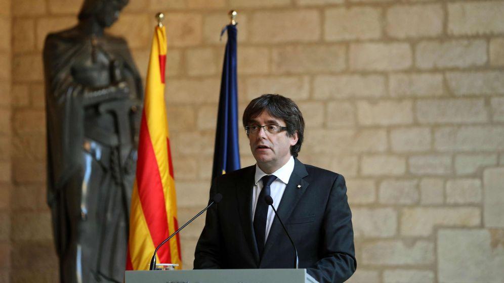 Foto: El presidente de la Generalitat, Carles Puigdemont, a finales de octubre de 2017. (EFE)
