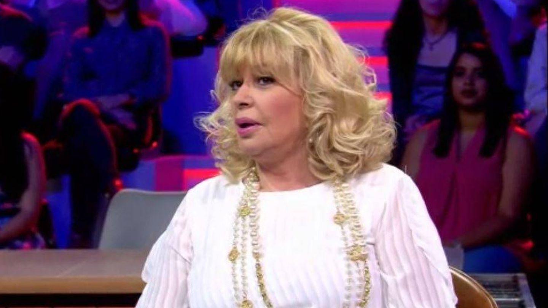Bárbara Rey en el plató de 'All you need is love'.