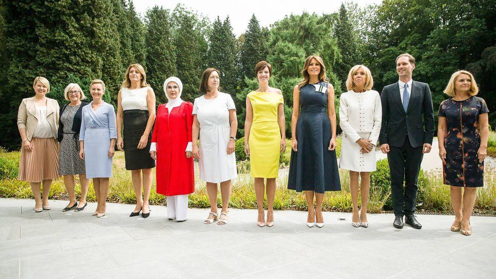 Foto: Las primeras damas (y el primer caballero) en Bruselas. (Cordon Press)
