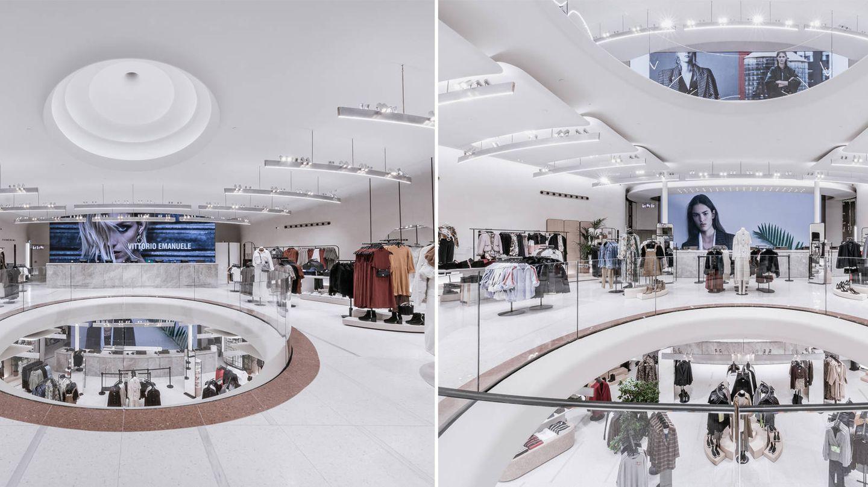 Así son algunas de las plantas de la reformada tienda de Zara en Milán. (Imagen: Cortesía de la marca)
