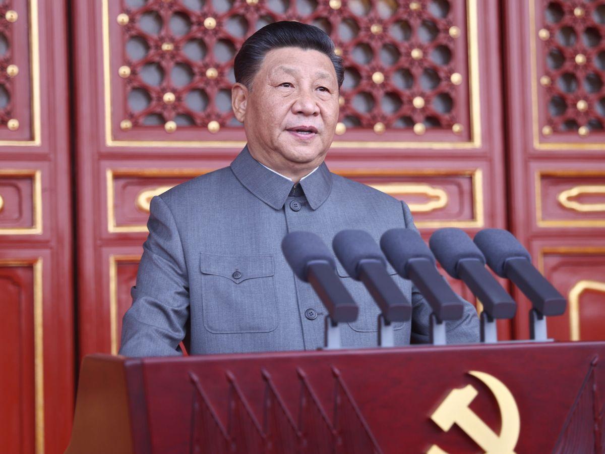 Foto: Foto cedida por la agencia de noticias Xinhua del presidente chino, Xi Jinping, durante su discurso. (EFE)