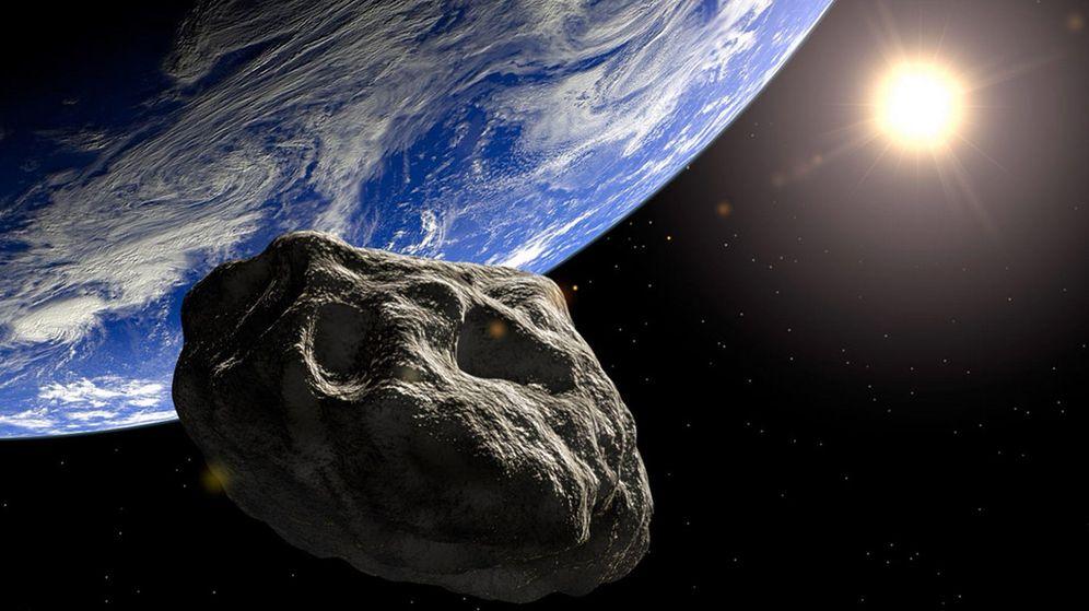 Foto: Representación de un asteroide
