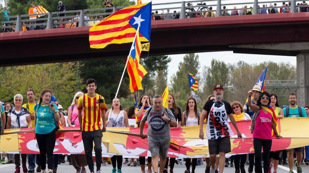 Foto: Manifestantes en Cataluña. (EFE)