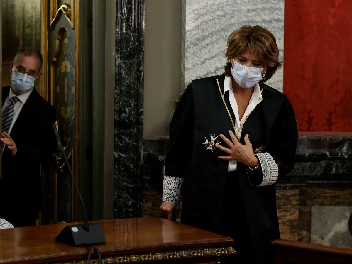 Foto: La fiscal general del Estado, Dolores Delgado, durante la apertura del año judicial. (EFE)