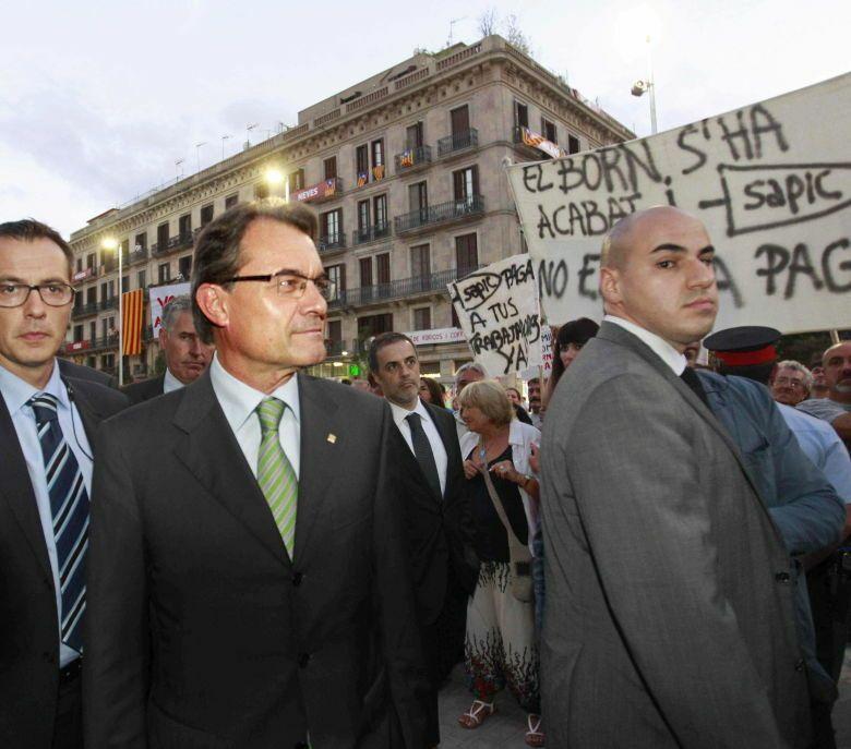 Artur Mas a su llegada a la inauguración del Centro Cultural Born. (Efe)