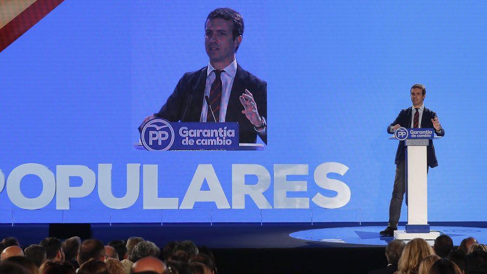 Foto: Pablo Casado, en la inauguración de Sevilla de la 23 Unión Interparlamentaria Popular. (EFE)