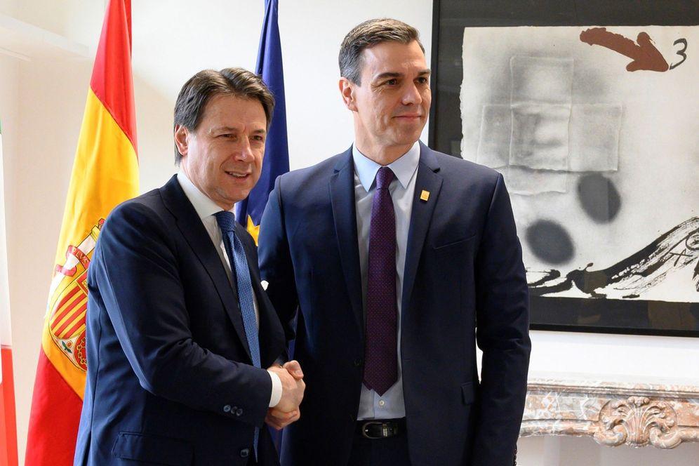 Foto: Pedro Sánchez y el primer ministro italiano, Giuseppe Conte, el pasado 21 de febrero en Bruselas. (EFE)