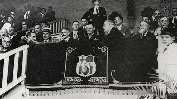 Foto: El palco de Les Corts en 1925.