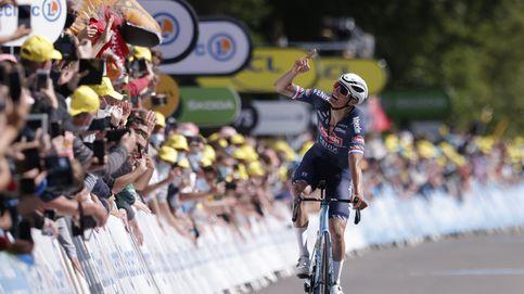 Van der Poel conquista dos veces el Muro de Bretaña y es el nuevo líder del Tour