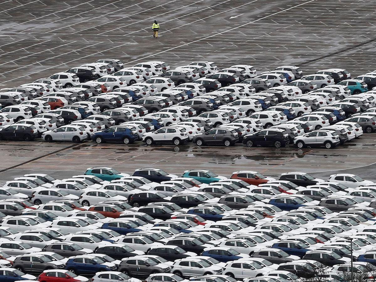 Foto: Fábrica de Volkswagen en Navarra, el 16 de marzo. (EFE)