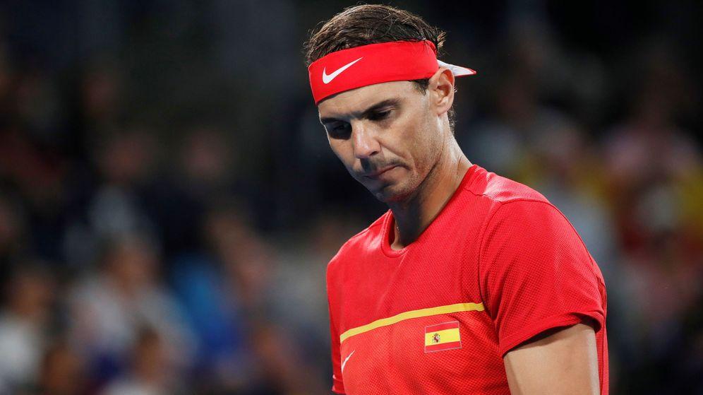 Foto: Rafa Nadal, durante su partido contra Djokovic en la final de la ATP Cup. (Reuters)