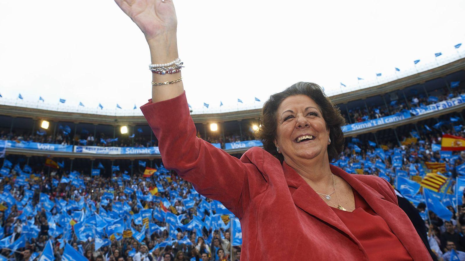 Foto: Rita Barberá, durante un mitin en Valencia. (Getty)