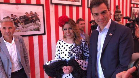 Mírala cara a cara que es la tercera...: Pedro Sánchez y Susana Díaz, en la Feria
