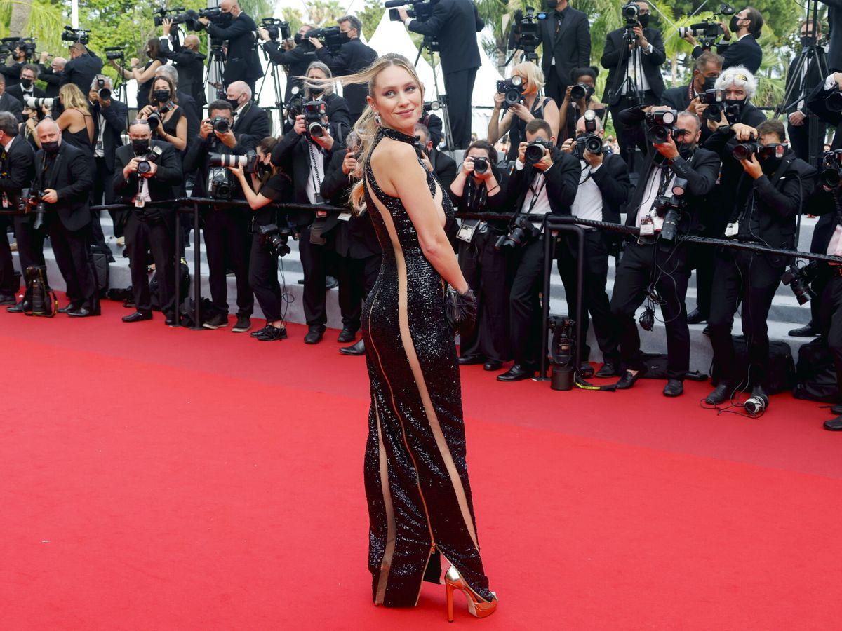 Foto: Dylan Penn, en Cannes. (Reuters)