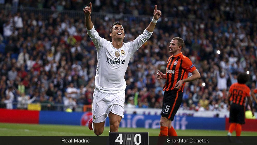 Cristiano mantiene en la nube a un Madrid que jugó con 'cinco' suplentes