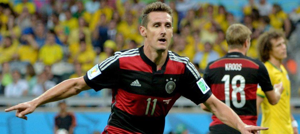 Foto: Klose celebra su gol ante Brasil (Efe).