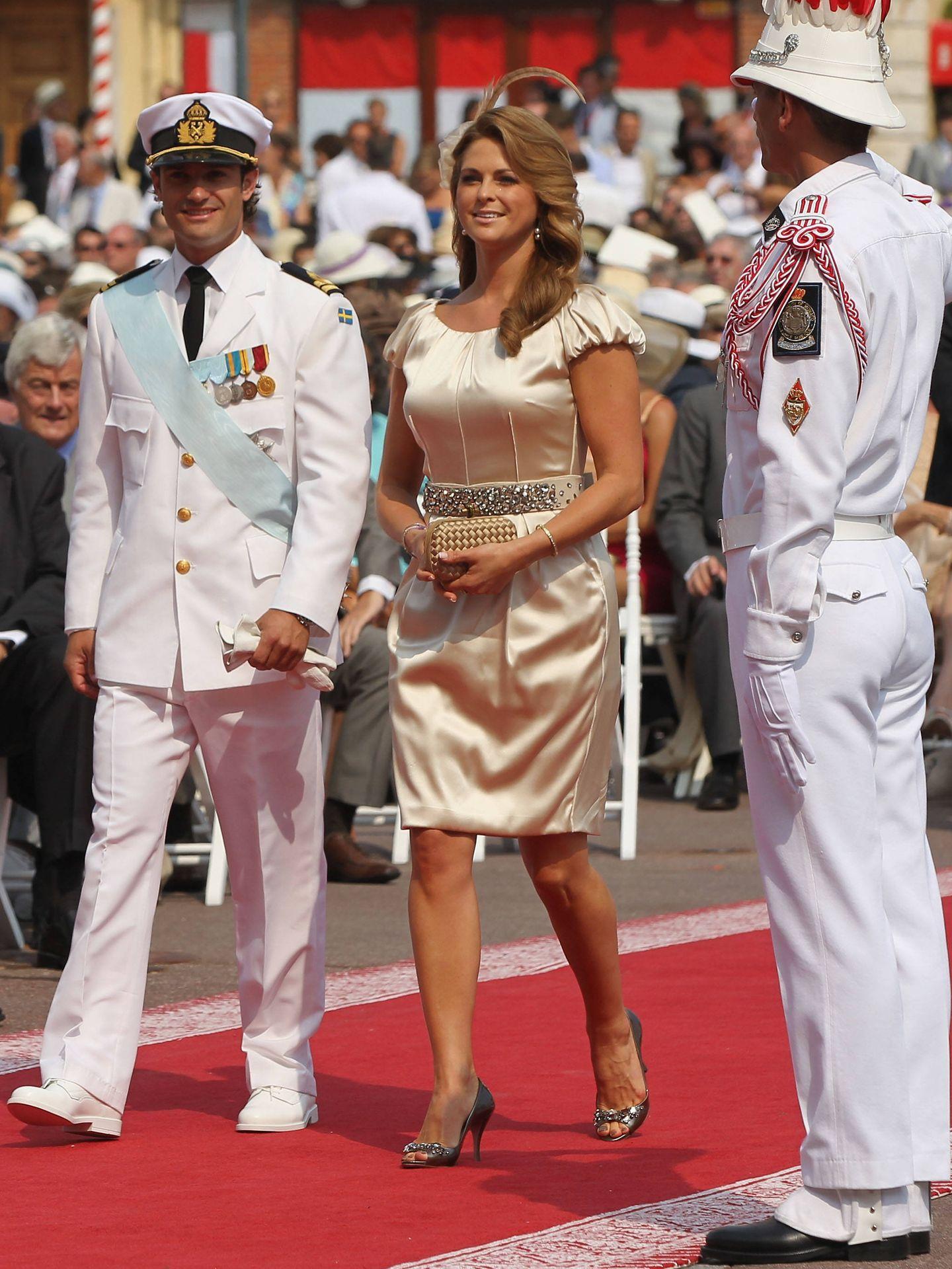 Magdalena de Suecia, en la boda de Alberto y Charlène de Mónaco. (Getty)
