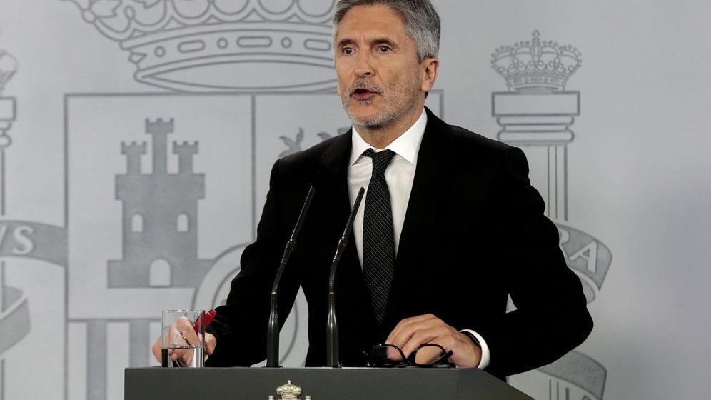 Foto: El ministro del Interior, Fernando Grande-Marlaska, en una comparecencia. (Reuters)