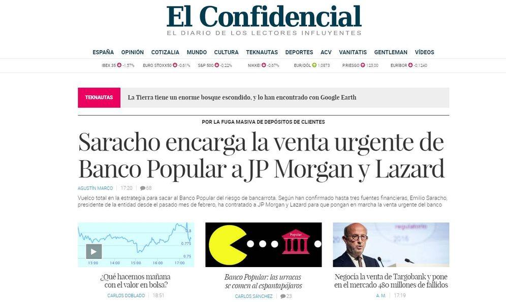 Foto: Portada de El Confidencial, el pasado 11 de mayo.