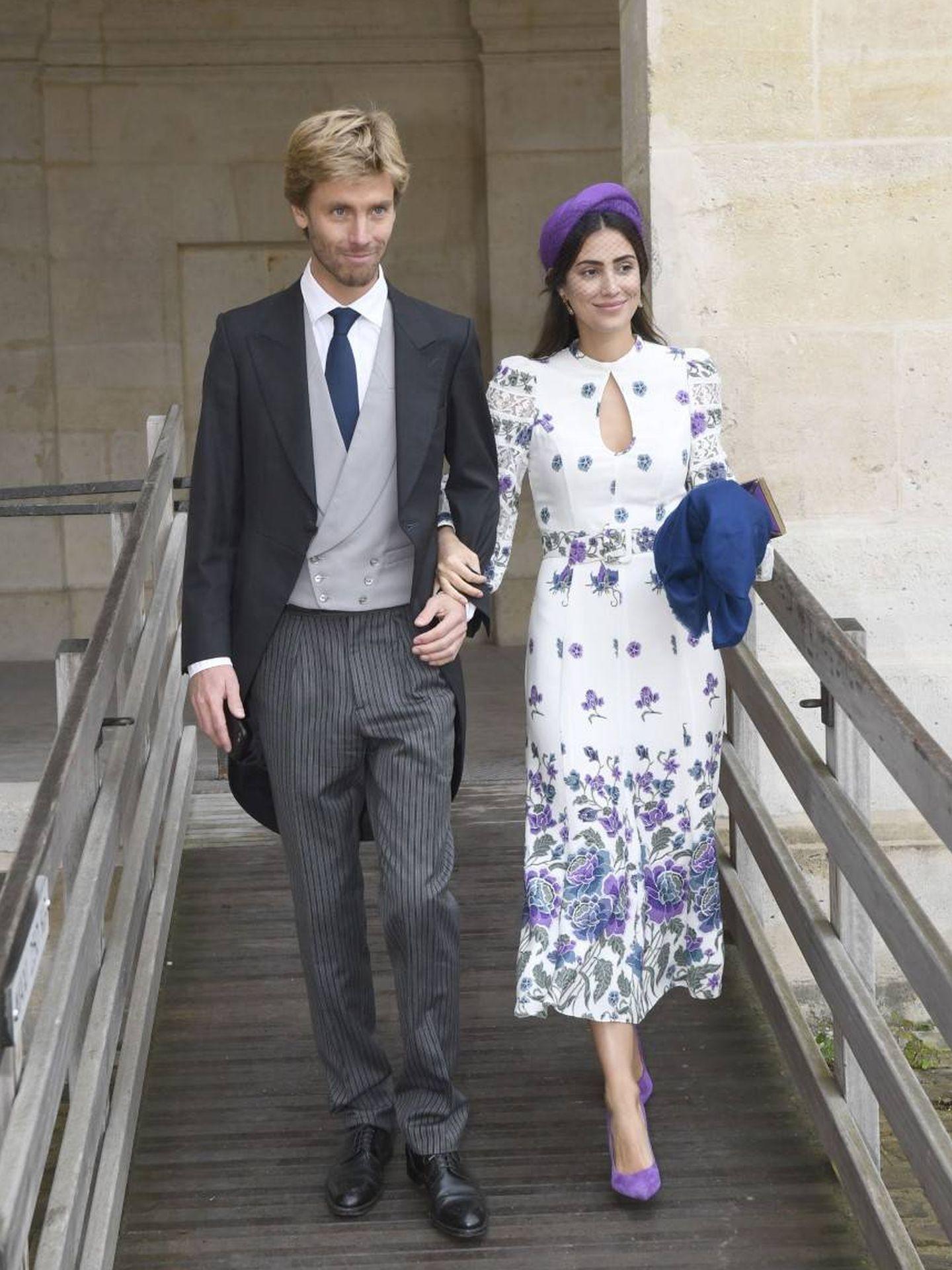 Christian de Hannover y Sassa de Osma,  en la boda entre la duquesa Olympia von und zu Arco-Zinneberg de Austria y Jean-Christophe Napoleón. (Cordon Press)