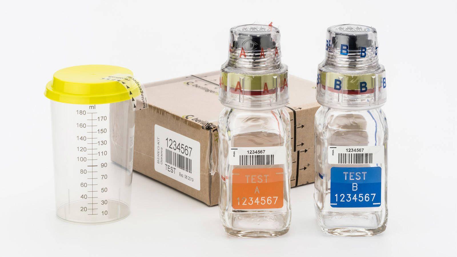 Foto: El kit para recoger muestras de orina de la marca Berlinger. (Foto: Berlinger)