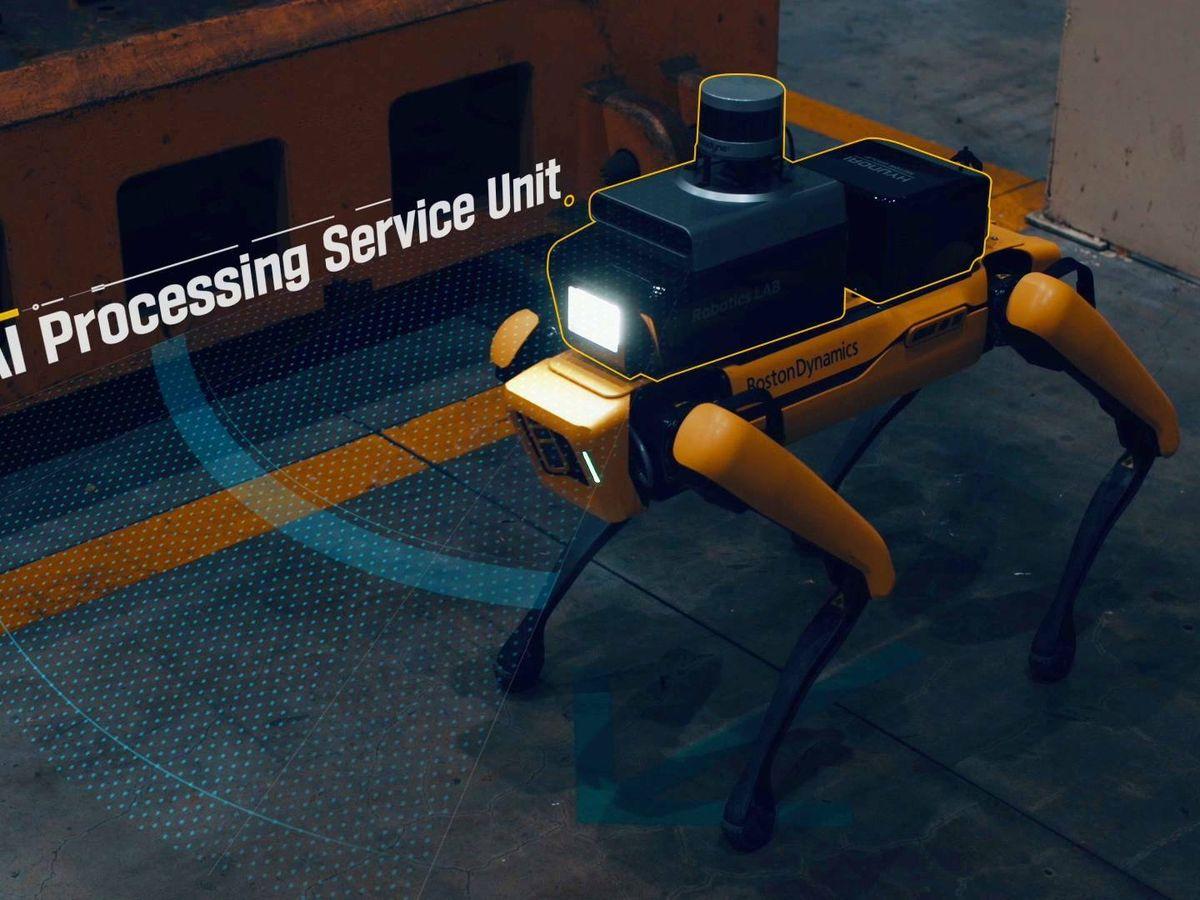 Foto: El robot 'Spot', de Boston Dynamics, hará de vigilante de seguridad nocturno en una planta de Kia en Corea del Sur.