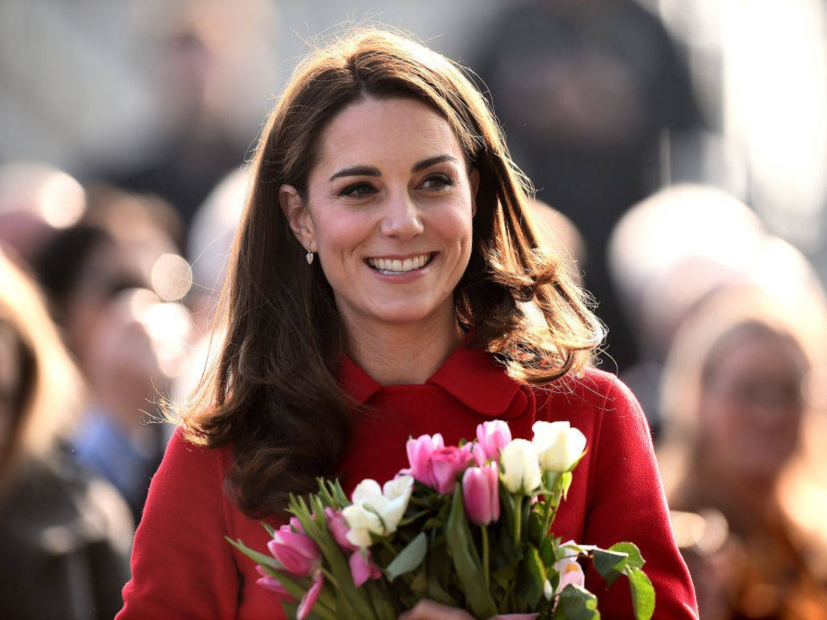 Foto: Kate Middleton, de rojo, en una imagen de archivo. (Getty)