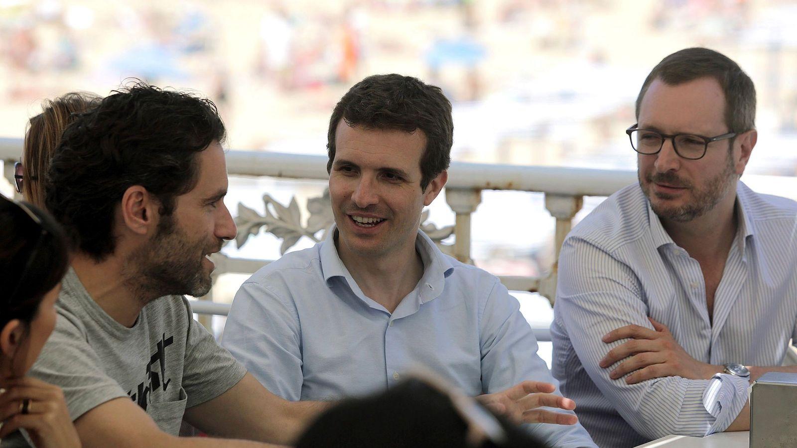 Foto: Pablo Casado y Javier Maroto, en un acto de homenaje a Miguel Ángel Blanco   EFE