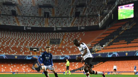 El ambiente artificial de un Mestalla vacío en la eliminación del Valencia en Champions