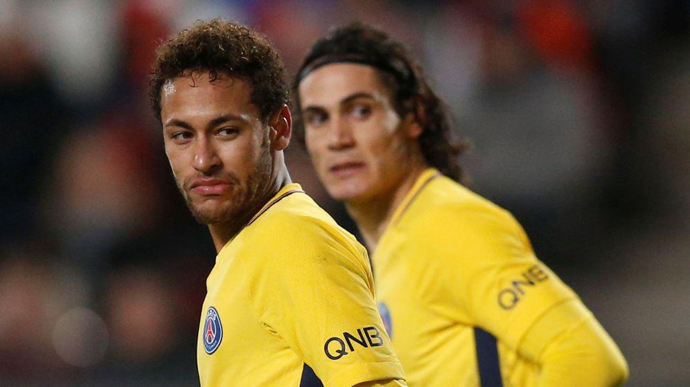 Foto: En la imagen, Neymar y Cavani durante un partido del PSG. (Reuters)