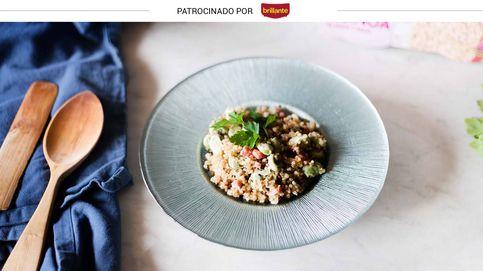 Quinoa con habas tiernas y jamón: un alimento funcional con todo el color y sabor