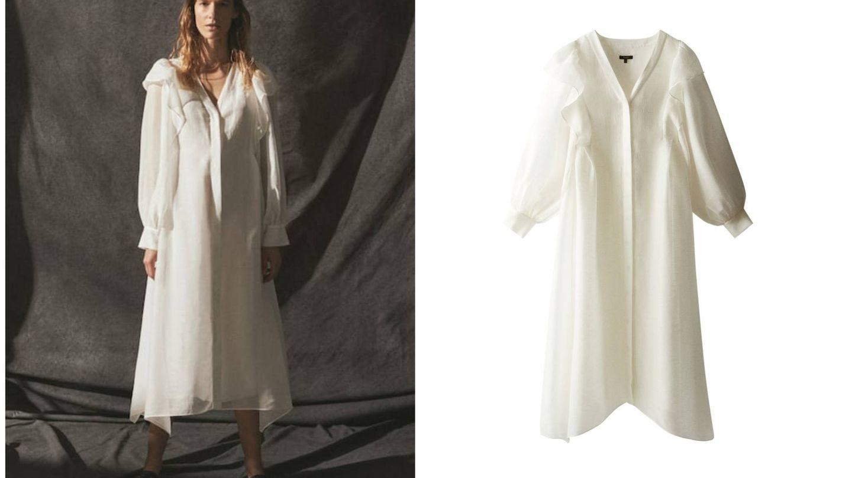 El vestido vaporoso de Massimo Dutti. (Cortesía)
