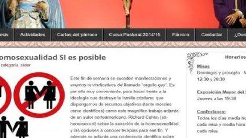 """Una parroquia de Sevilla elimina de su web los consejos para """"curar la homosexualidad"""""""