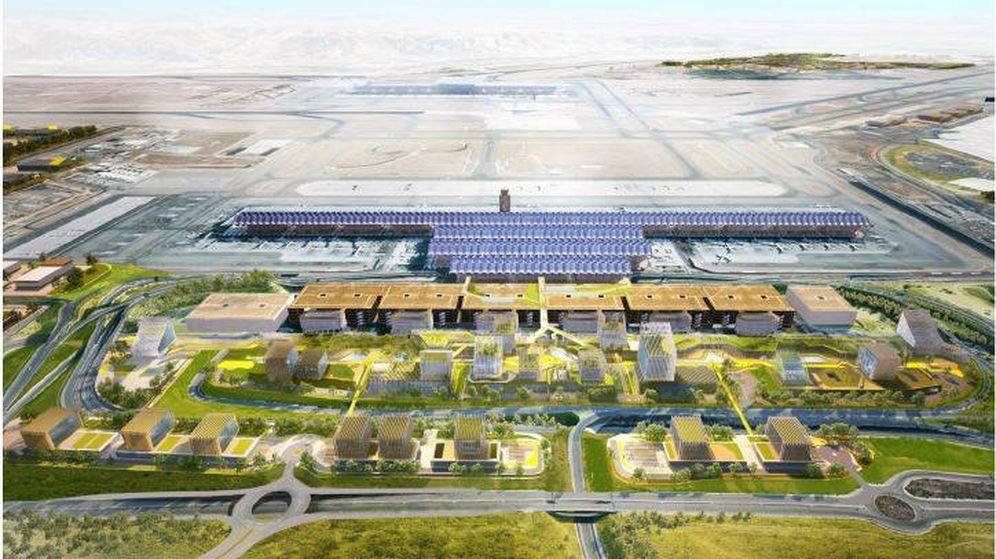 Foto: Proyección del Plan Inmobiliario Madrid-Barajas.
