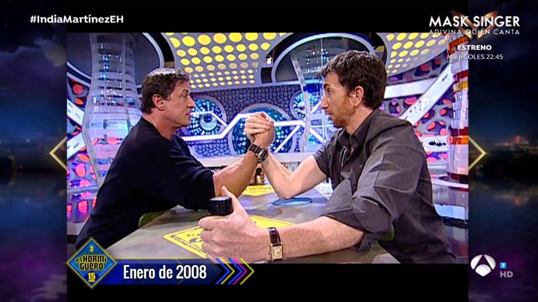 Sylvester Stallone y Pablo Motos. (Atresmedia)