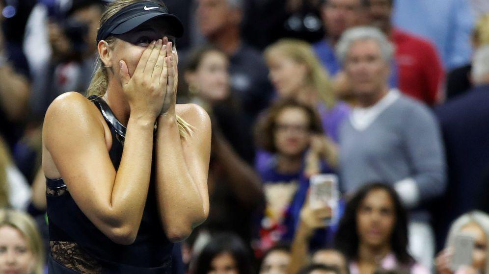 Foto: Sharapova llora tras su victoria. (Reuters)