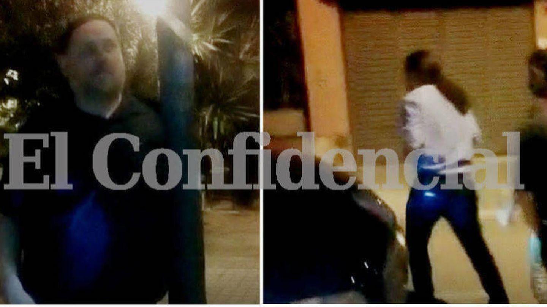 Oriol Junqueras y Pablo Iglesias, llegando por separado a la casa de Jaume Roures en Barcelona. (El Confidencial)