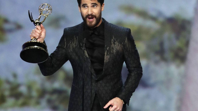 Darren Criss agradeciendo el premio. (Reuters)
