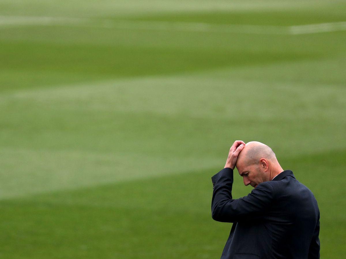 Foto: Zinédine Zidane durante el partido contra el Villarreal. (Efe)