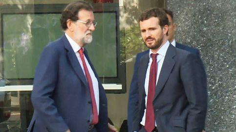 Casado almuerza con Mariano Rajoy tras el último pleno y antes de preparar el 10-N