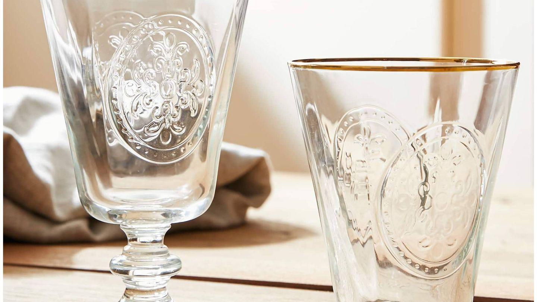 Nueva cristalería de Zara Home. (Cortesía)