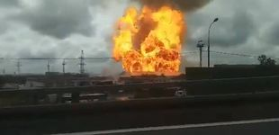 Post de Espectacular incendio en una central termoeléctrica cercana a Moscú (Rusia)