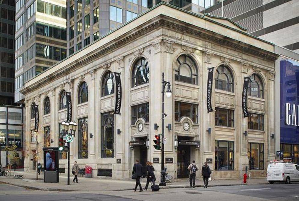 Foto: Tienda de Banana Republic en Montreal propiedad de Pontegadea.