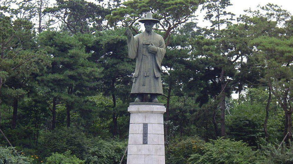 Foto: Estatua de San Andrés Kim Taegön.