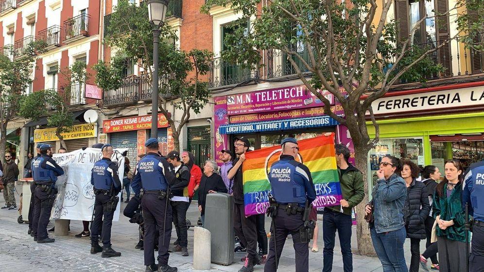 Foto: Momento de las protestas contra Cs en Madrid. (EP)