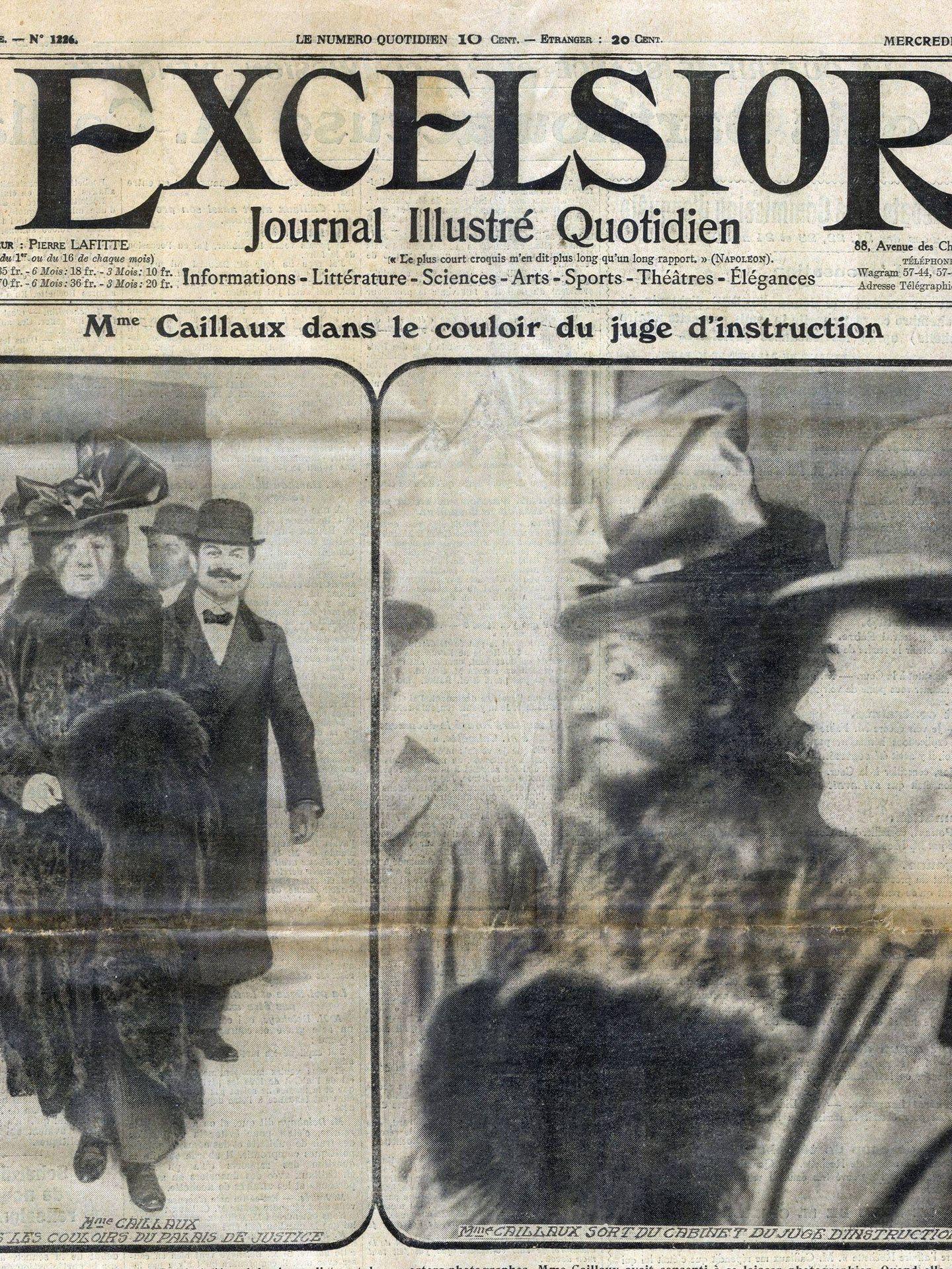 Portada del Excelsior sobre el juicio a Madame Caillaux