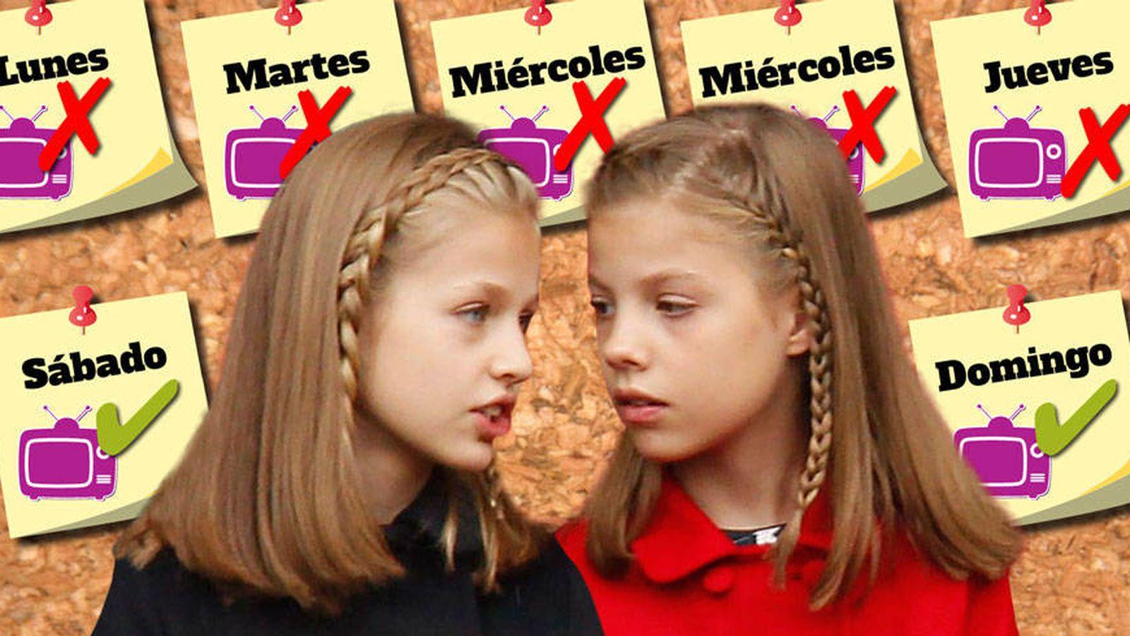 Foto: Leonor y Sofía en un fotomontaje realizado por Vanitatis