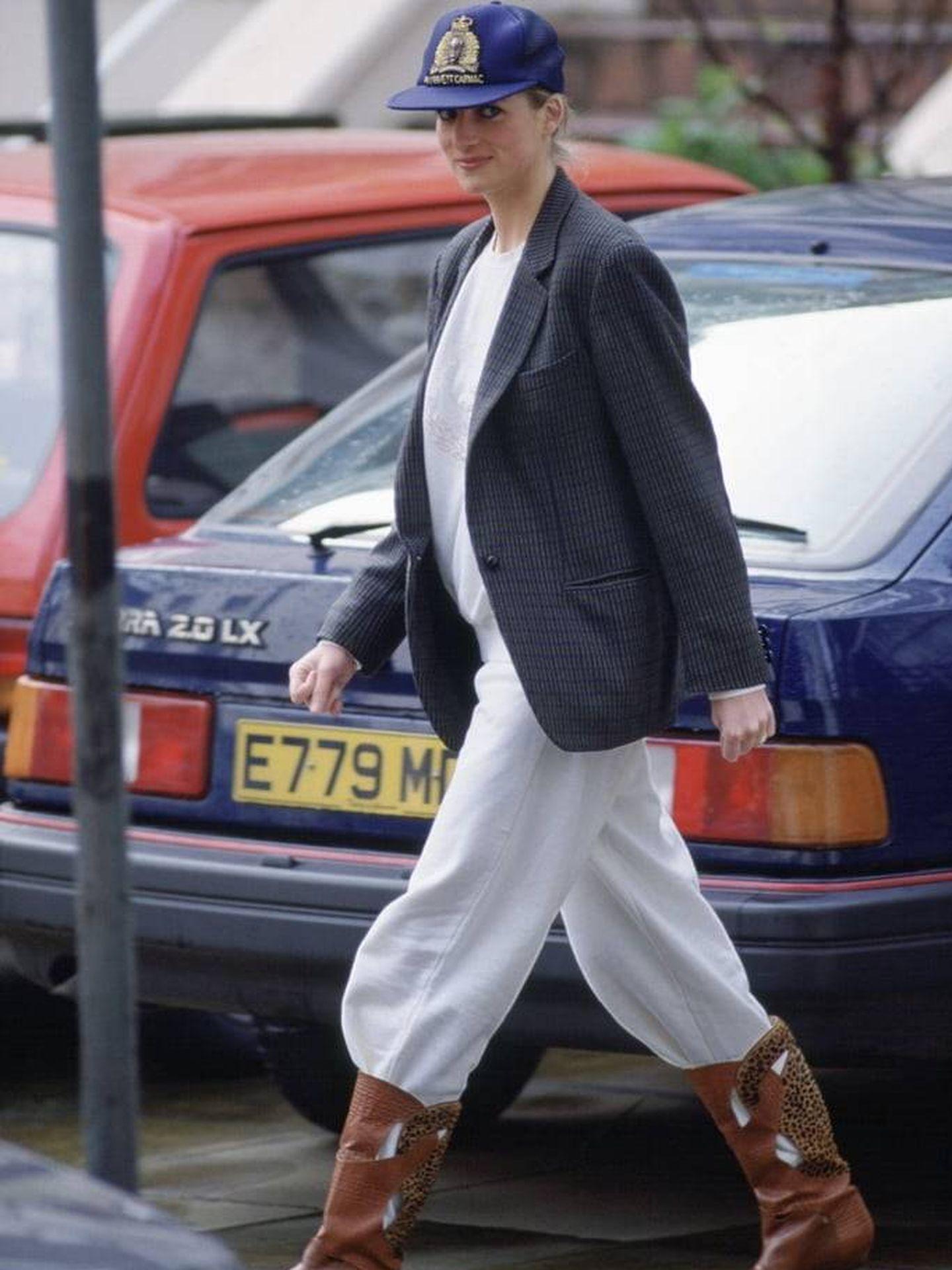 Lady Di marcando tendencia en 1989.  (Getty)