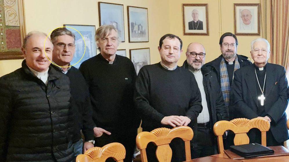 Foto: Javier Redondo de Paz, en la reunión del 3 de febrero para desarrollar un plan antipederastia. (Diócesis de Santander)